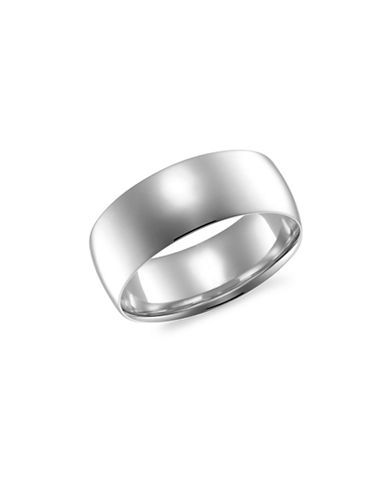 Fine Jewellery 14KT White Gold 7MM Wedding Band-WHITE GOLD-11