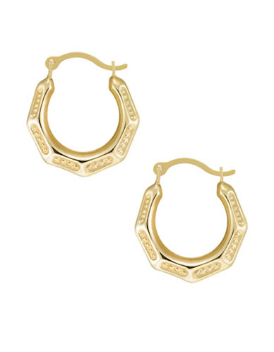 Fine Jewellery Creole Hoop Earrings-GOLD-One Size
