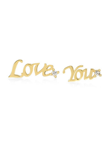 Fine Jewellery 14K Yellow Gold Nothing But Love Stud Earrings-GOLD-One Size