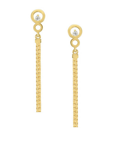Fine Jewellery 14kt Yellow Gold Chain Drop Earrings-GOLD-One Size