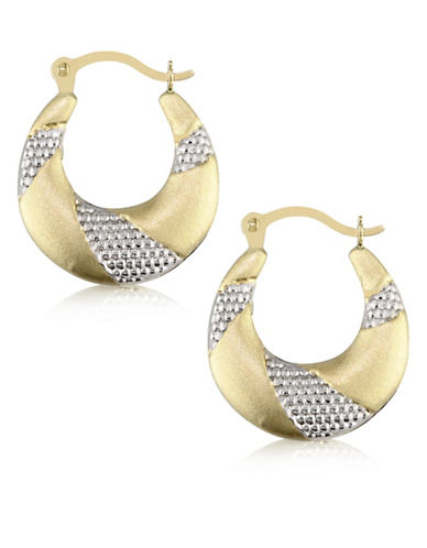 Gold Celebration 14K Two-Tone Gold Round Hoop-TWO TONE-One Size