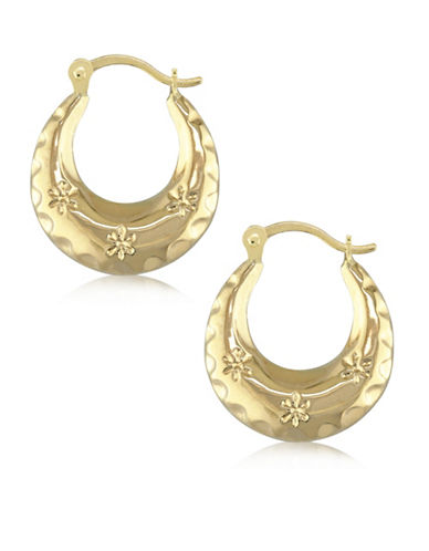 Gold Celebration 14K Yellow Gold Round Hoop Earrings-GOLD-One Size