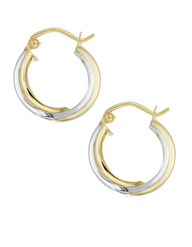 Gold Celebration Two-Tone Multi Tube Hoop Earrings-TWO TONE-One Size