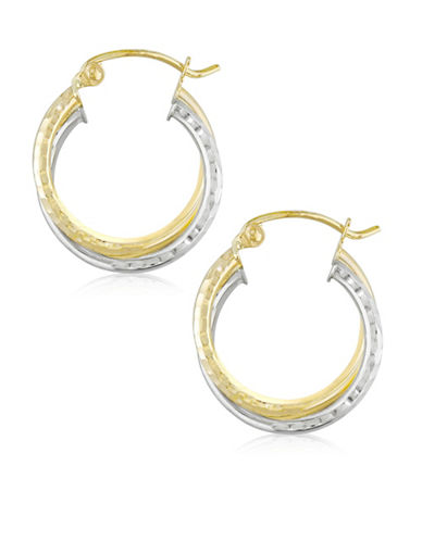 Gold Celebration Two-Tone Multi Tube Hoop Earrings-TWO-TONE-One Size