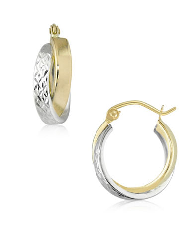 Gold Celebration Two-Tone Multi-Tube Hoop Earrings-TWO-TONE-One Size