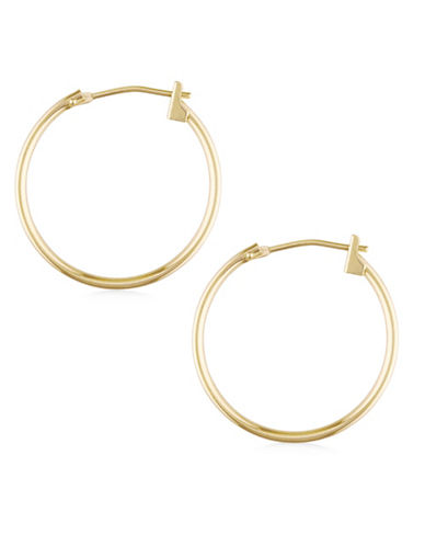 Fine Jewellery 14K Gold Hoop Earrings - 0.8-GOLD-One Size