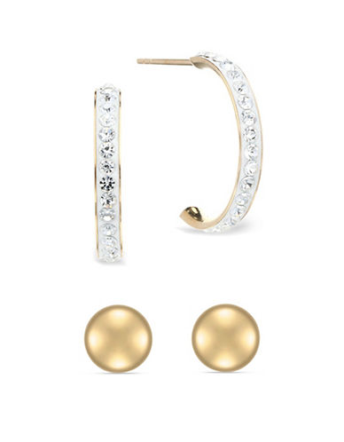 Fine Jewellery 14K Gold Earring Set-GOLD-One Size