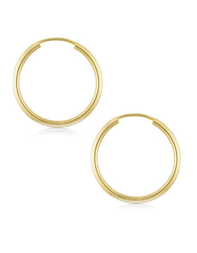 Fine Jewellery Tube Endless 14K Gold Hoop Earrings-GOLD-One Size