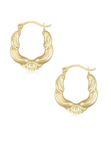 Fine Jewellery Fancy Creole 14K Gold Hoop Earrings-GOLD-One Size