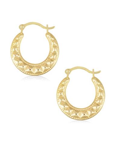 Fine Jewellery Creole 14K Gold Hoop Earrings-GOLD-One Size