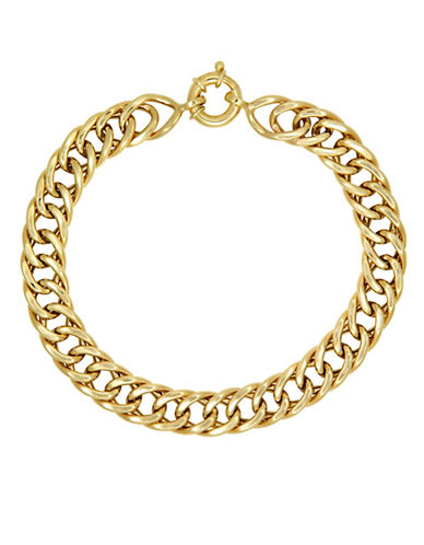 Fine Jewellery 10K Yellow Gold Link Bracelet-GOLD-One Size