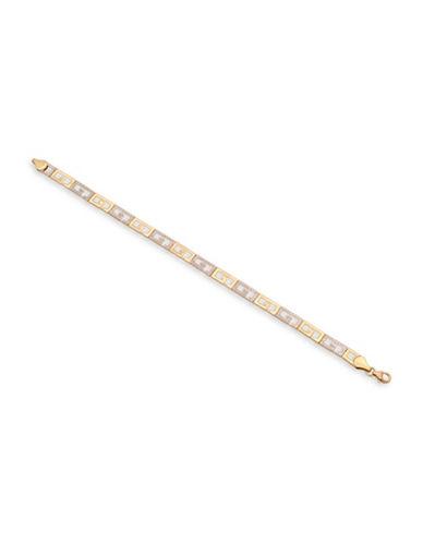 Fine Jewellery 10K Two-Tone Gold Etruscan Bracelet-GOLD-One Size