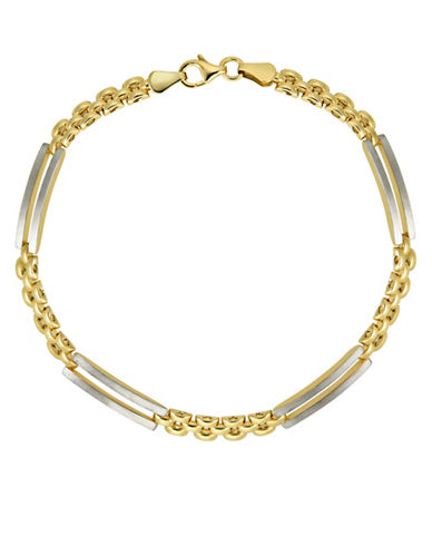 Fine Jewellery 10K Two-Tone Gold Pantera Bracelet-GOLD-One Size
