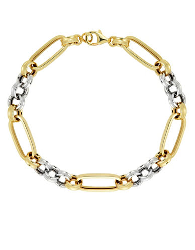 Fine Jewellery 10K Two-Tone Gold Rolo Bracelet-GOLD-One Size