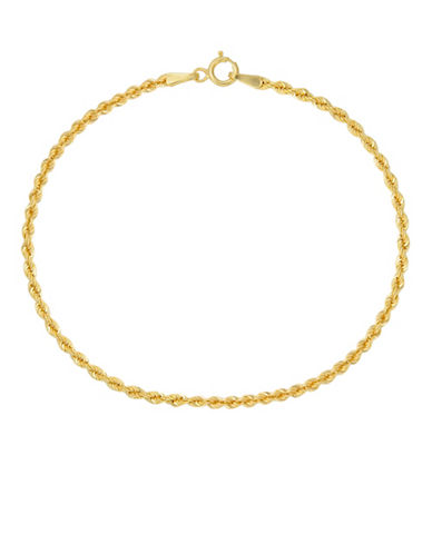 Fine Jewellery 14K Yellow Gold Rope Bracelet-GOLD-One Size