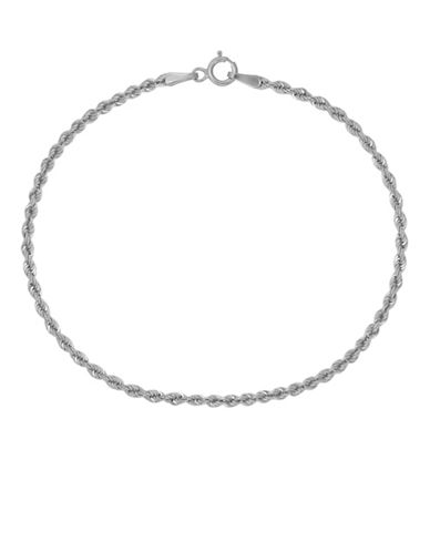 Fine Jewellery 14K White Gold Rope Bracelet-SILVER-One Size