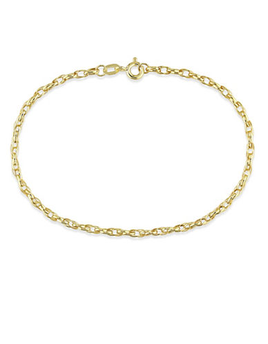 Fine Jewellery 14K Yellow Gold Link Bracelet-GOLD-One Size