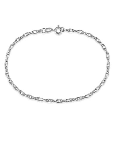 Fine Jewellery 14K White Gold Link Bracelet-SILVER-One Size