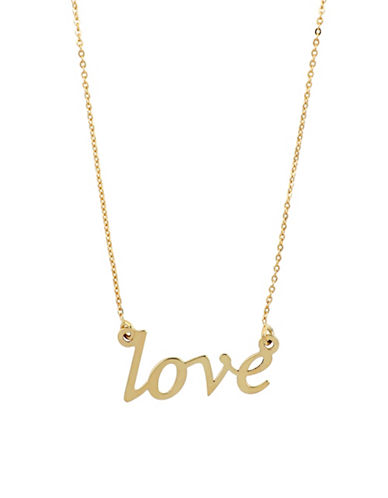 Fine Jewellery Love 10k Goldplated Necklace-GOLD-One Size