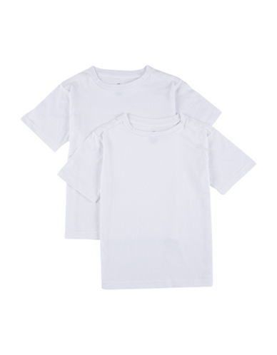 Calvin Klein Two-Pack Crew Neck Cotton T-Shirts-WHITE-X-Large