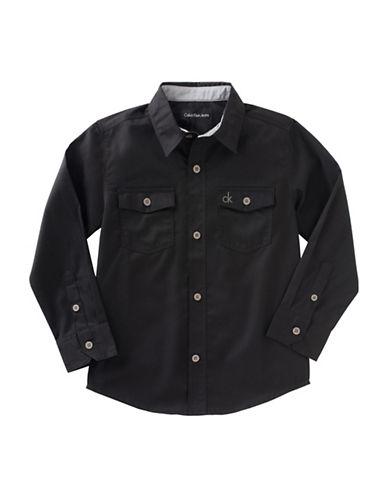 Calvin Klein Atmosphere Long Sleeve T-Shirt-BLACK-Large 88754238_BLACK_Large