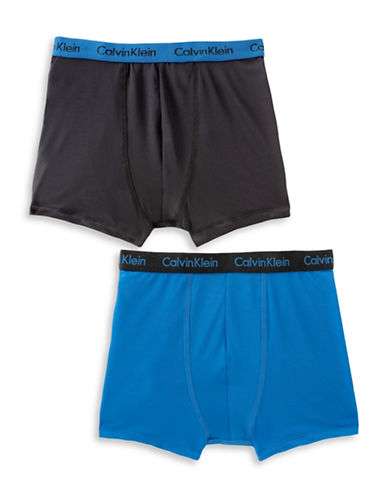Calvin Klein Performance Boxer Briefs-BLACK/BLUE-X-Large 88581050_BLACK/BLUE_X-Large