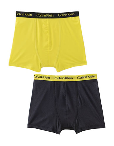 Calvin Klein Performance Boxer Briefs-GREY/LIME-Small 88581051_GREY/LIME_Small