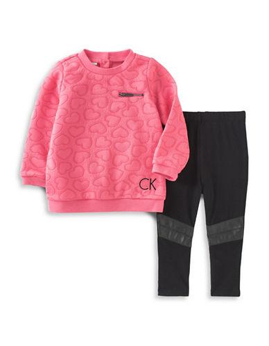 Calvin Klein Two-Piece Double Knit Legging Set-PINK-12 Months 88495398_PINK_12 Months