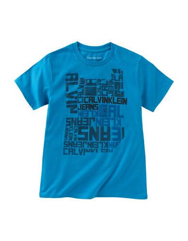 Calvin Klein Interlocked Print Cotton T-Shirt-BLUE-6 88754794_BLUE_6