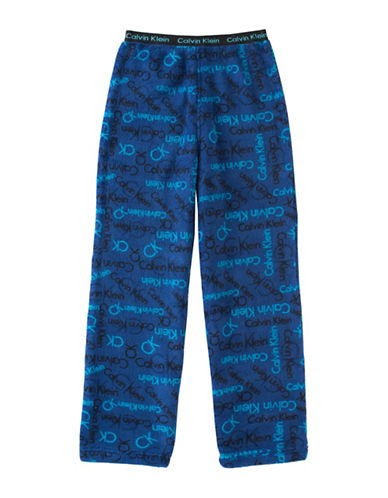 Calvin Klein Logo Pajama Pants-BLUE-10-12 88386935_BLUE_10-12