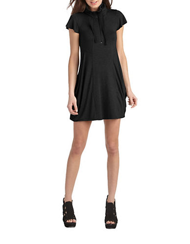 Kensie French Terry Dress-BLACK-X-Large 86135393_BLACK_X-Large