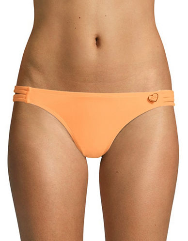 Body Glove Flirty Surf Rider Mid-Rise Bikini Bottom-ORANGE-X-Small