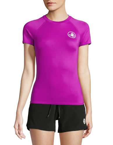 Body Glove In Motion Short Sleeve Rash Guard-MAGNOLIA-X-Small