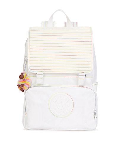 Kipling Washington Flap Backpack-WHITE-One Size