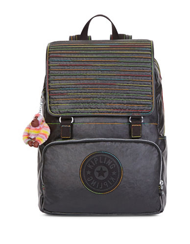 Kipling Washington Flap Backpack-BLACK-One Size