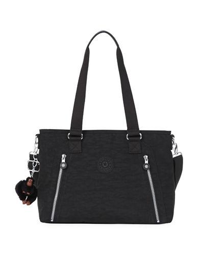 Kipling Angela Medium Nylon Shoulder Bag-BLACK-One Size