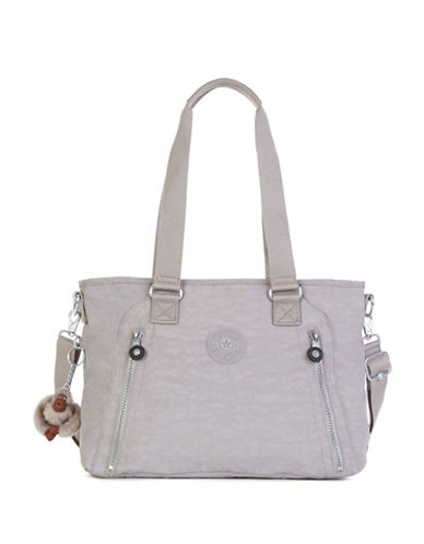 Kipling Angela Medium Nylon Shoulder Bag-GREY-One Size