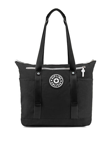 Kipling Kim Raisin Tote-BLACK-One Size