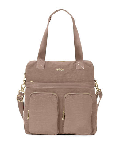 Kipling Camryn Nylon Shoulder Bag-BROWN-One Size
