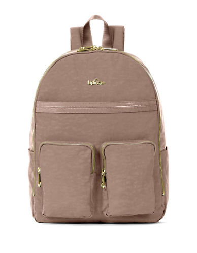 Kipling Tina Nylon Backpack-BROWN-One Size