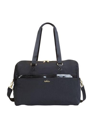Kipling Sasso Nylon Handbag-BLACK PATENT-One Size