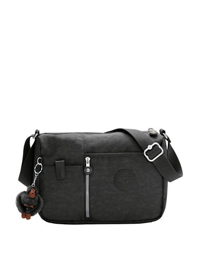 Kipling Dusha Nylon Crossbody Bag-BLACK-One Size