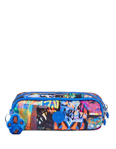 Kipling Gustavo Printed Zip Pouch-BLUE-One Size