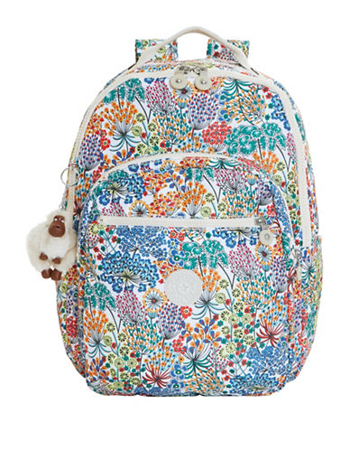 Kipling Seoul Printed Backpack-BLUE-One Size
