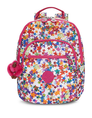 Kipling Seoul Printed Backpack-PINK-One Size
