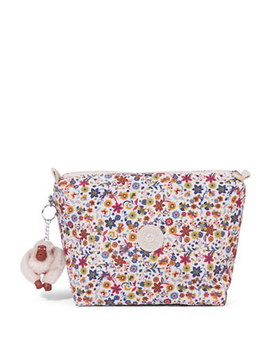 Kipling Daisies Moa Cosmetic Case-YELLOW MULTI-One Size