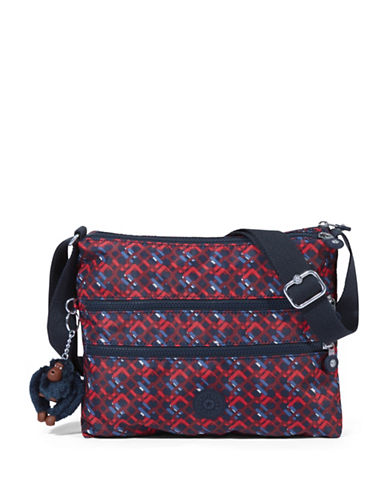 Kipling Alvar Printed Shoulder Bag-GREY-One Size