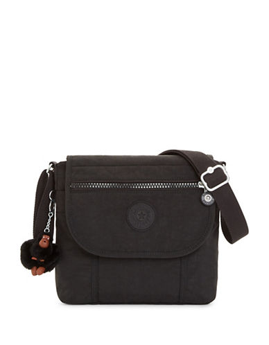 Kipling Brom Logo Crossbody Bag-BLACK-One Size