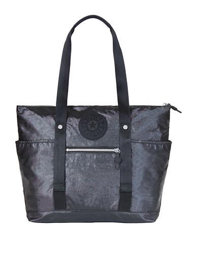 Kipling Kim Logo Tote-BLACK-One Size