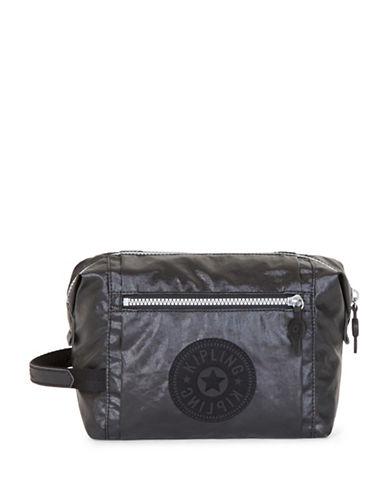 Kipling Leslie Logo Cosmetic Bag-BLACK-One Size